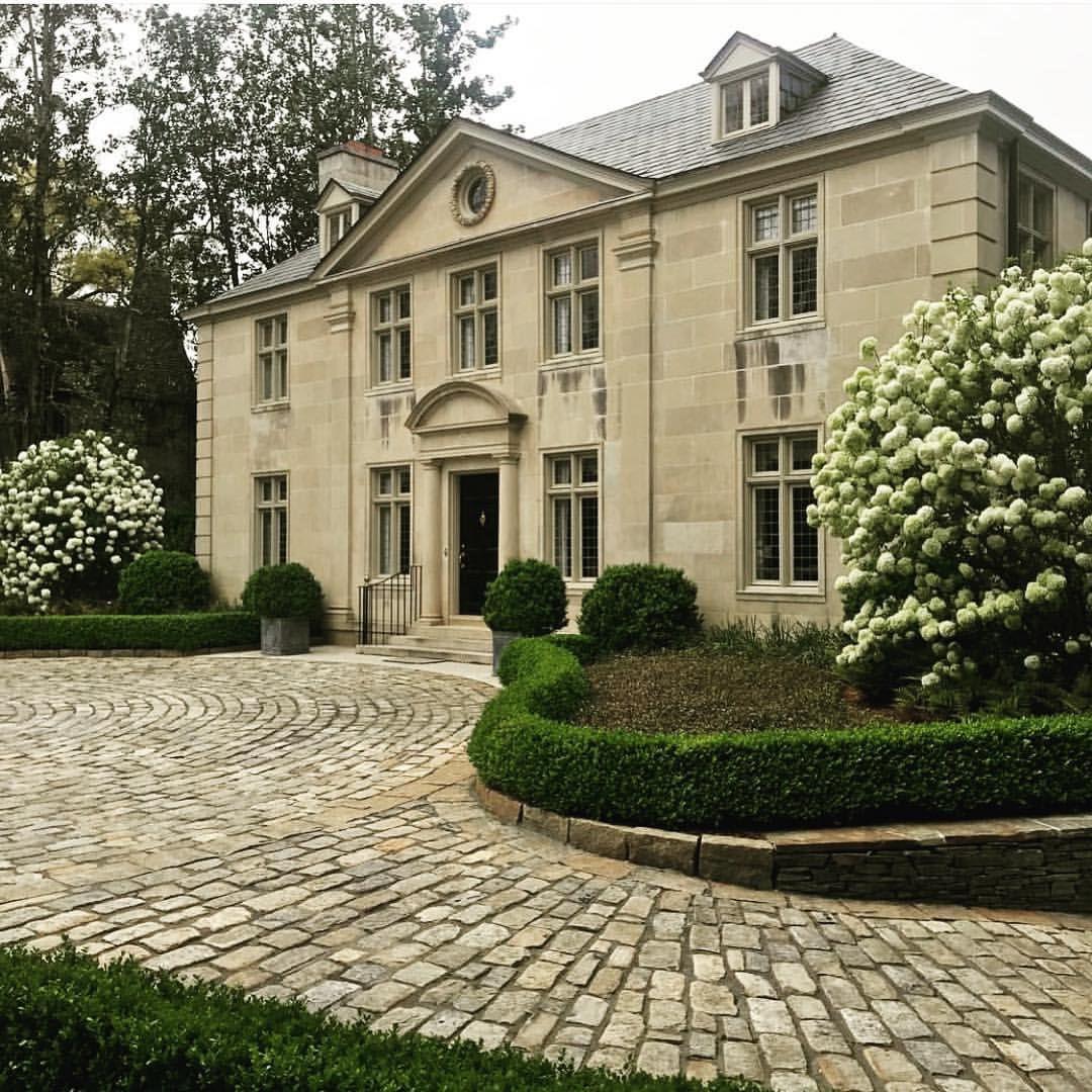 Elegant And Family Friendly Atlanta Home: Elegant, Almost-evergreen Snowball Virburnum In Full Bloom