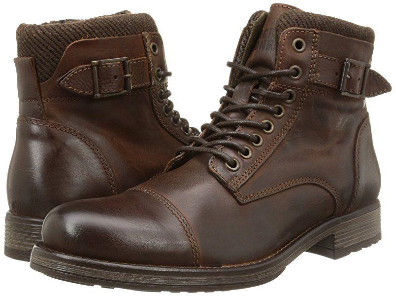 a998062d0cf JACK   JONES Jjalbany Leather Boot Brown Stone - botas de cuero hombre