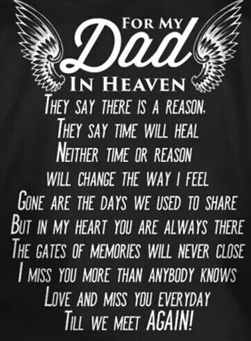 Love And Miss You..DAD !!♡♡ | Dad quotes, Dad in heaven ...