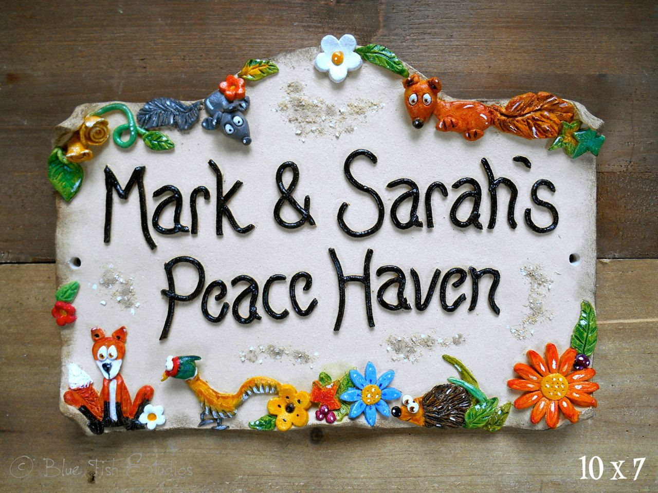Personalised house sign ceramic bridge top design from personalised house sign ceramic bridge top design from bluefishstudiosshop dailygadgetfo Gallery