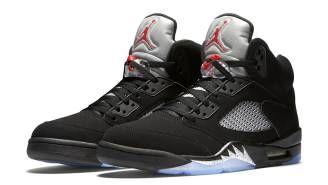 Air Jordan 5 (V) Retro Black/Fire Red-Metallic Silver (Black/Metallic Silver 2016) 845035-003 [845035-003] - $86.00 :