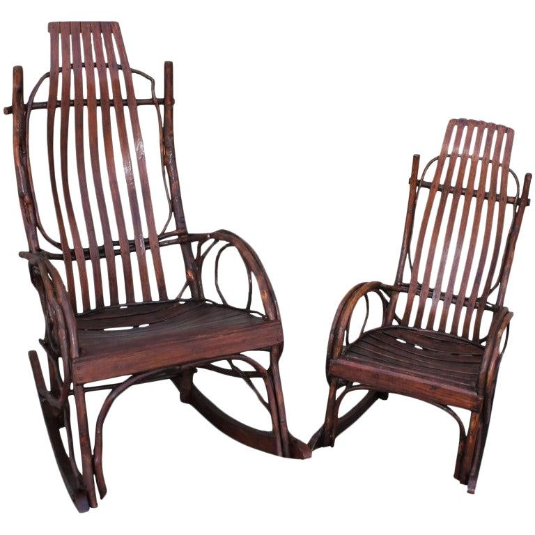 Amish bent wood rocking chairs adults and childs 2