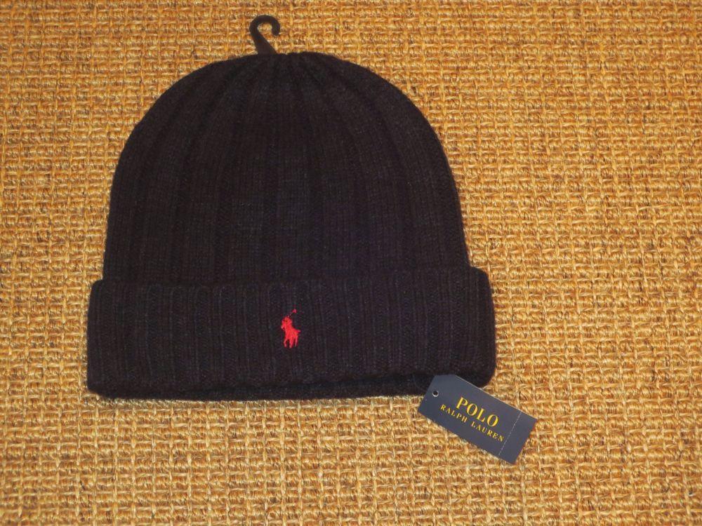 Polo Ralph Lauren Skull Beanie Hat Wool Winter Cap Navy Blue New NWT   PoloRalphLauren  Beanie e88e2175de7