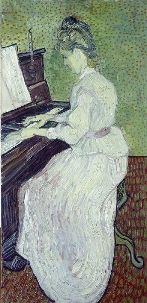 Ritratto Di Marguerite Gachet Al Pianoforte Di Vincent Van Gogh