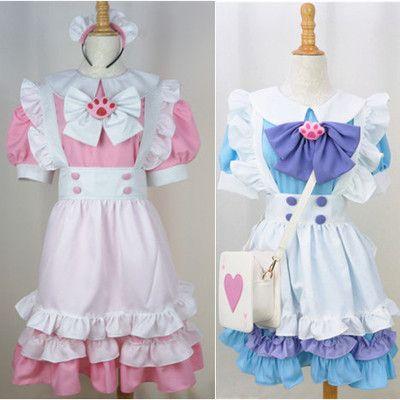 99d012284ecd9 Custom Lolita Princess Maid Dress With Paw Brooch and Black KC Free ...