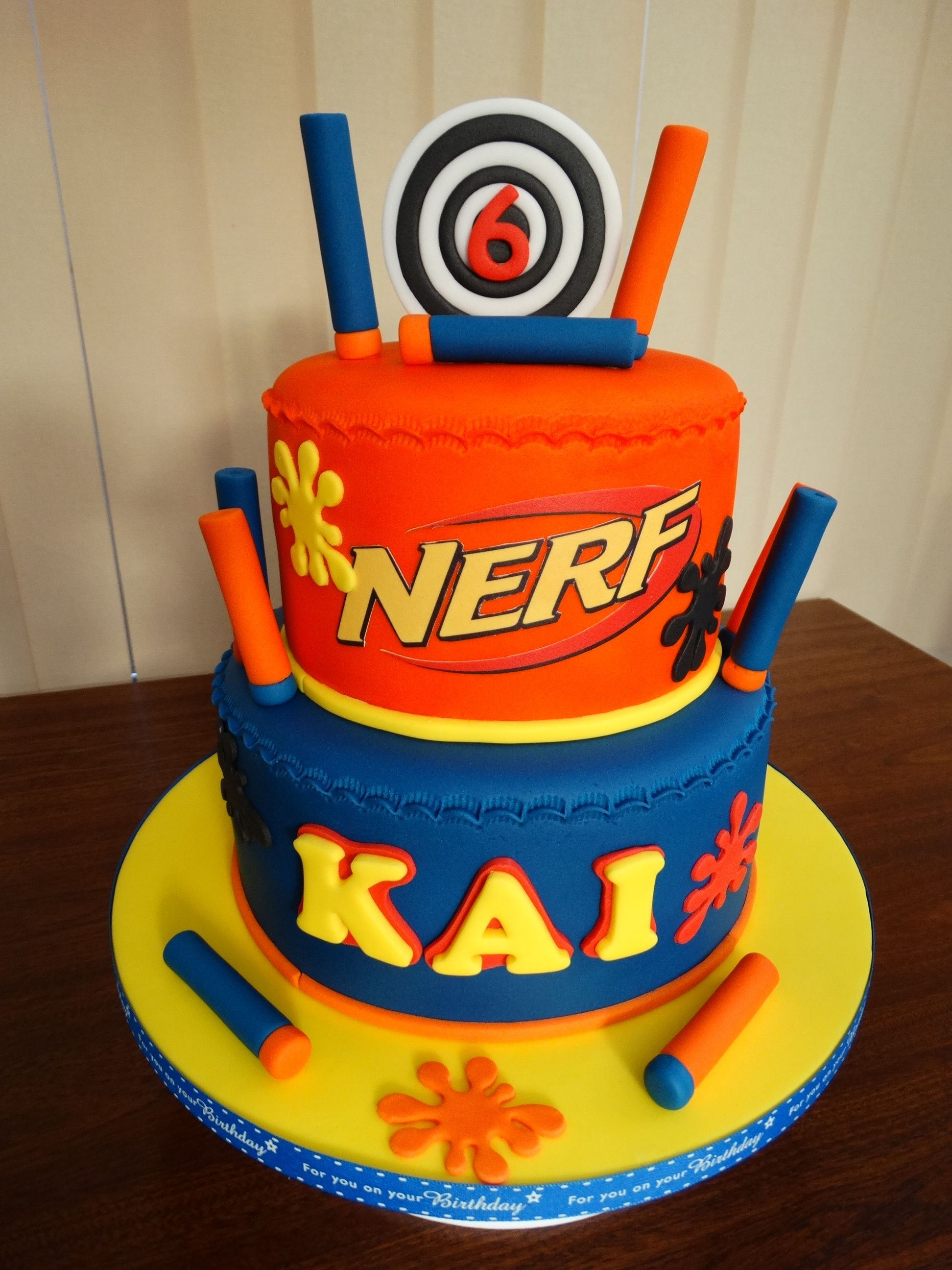 Nerf Themed Cake xMCx JJ 8th Birthday Pinterest Cake Nerf