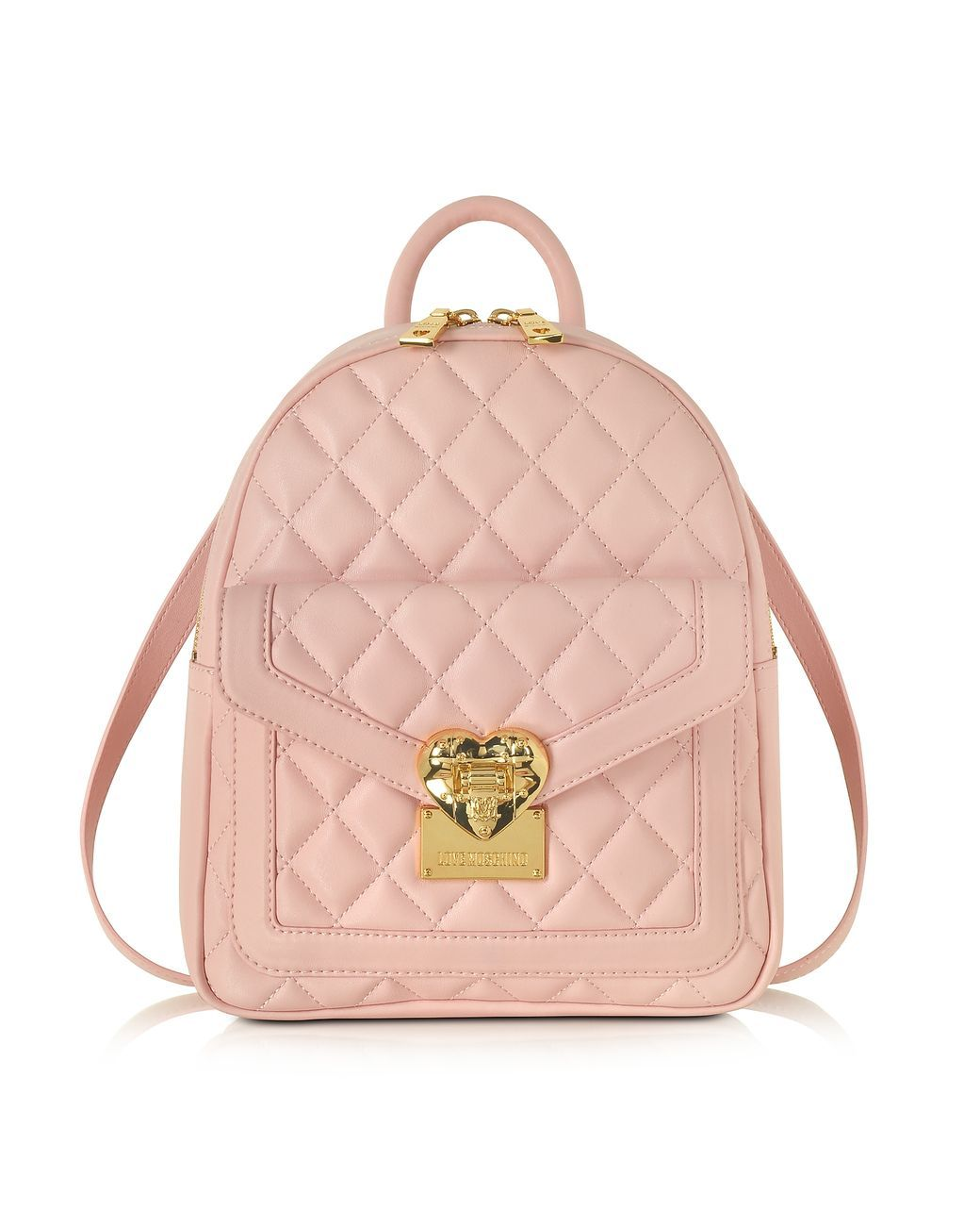 312b05473150 Women s Pink Heart Quilted Eco Leather Small Backpack