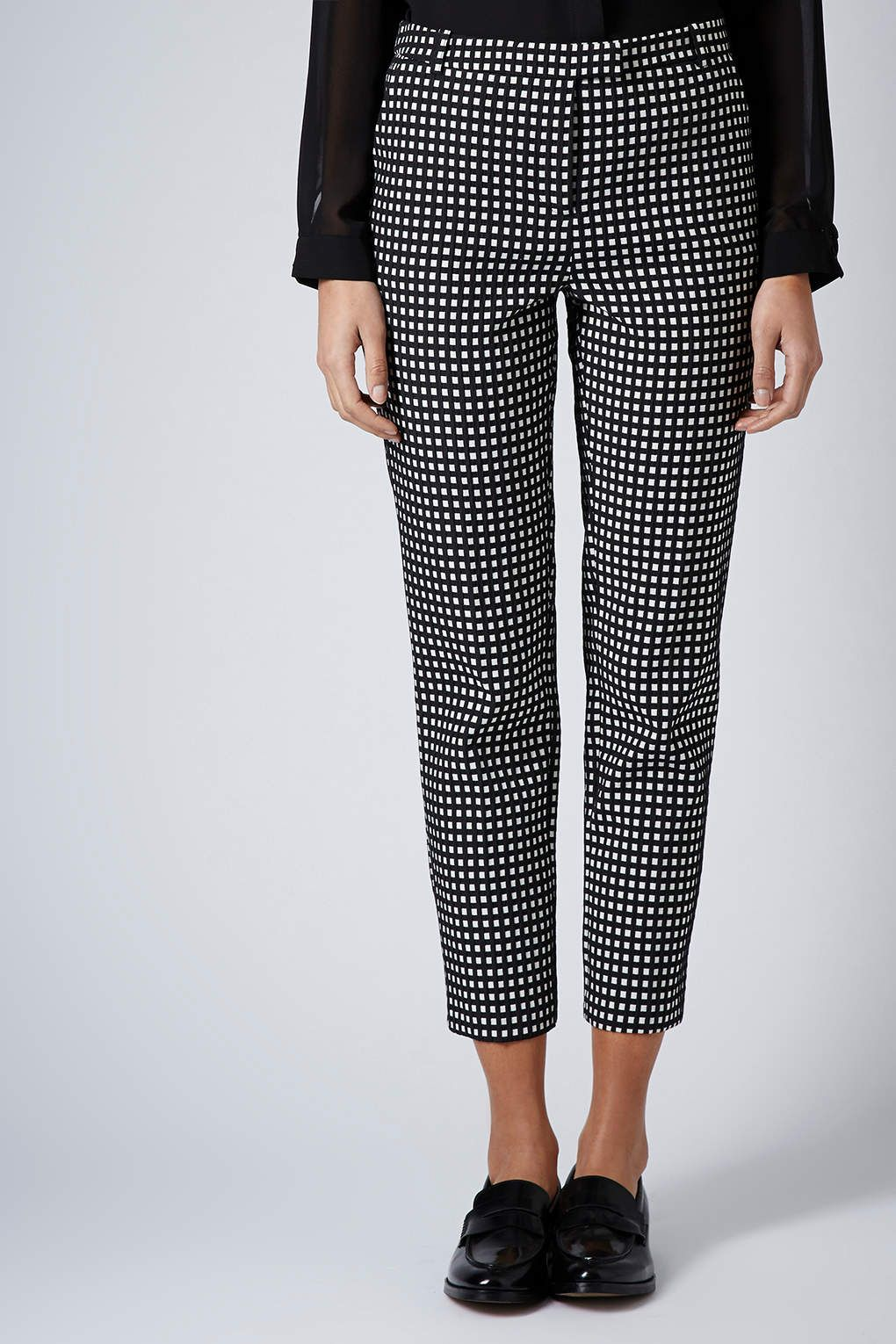 5562af7d14 Gingham cigarette trousers. £42. After buying the gingham tube, the trousers  are essential.