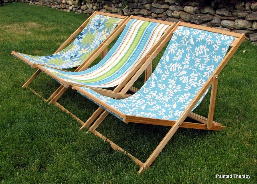 DIY Folding Sling Chairs
