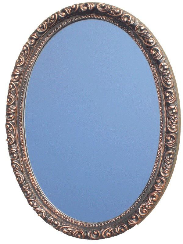 Camille Sculpted Oval MirrorbrVenetian Bronze Finish Frame