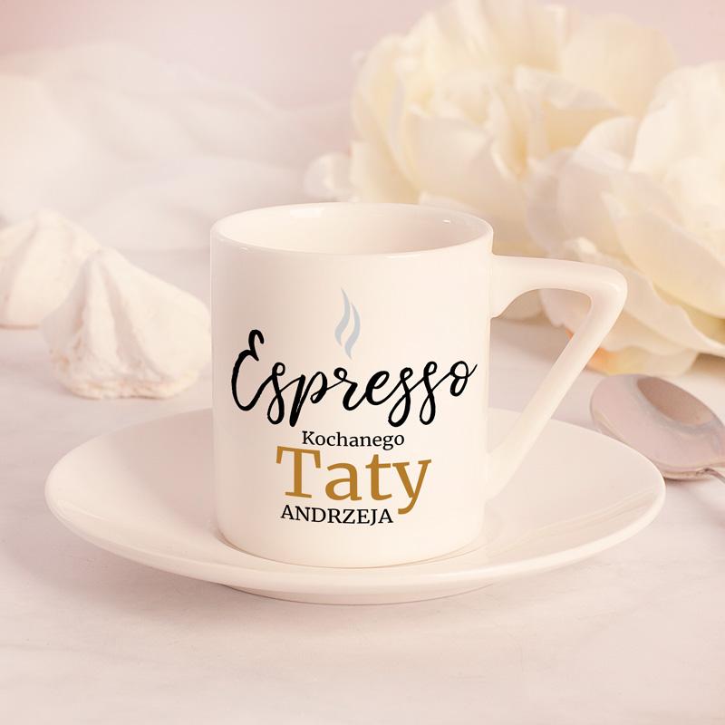 Filizanka Ze Spodkiem Do Espresso Personalizowana Prezent Dla Kochanego Taty Glassware Tableware Mugs