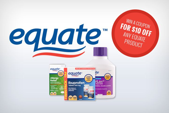 Equate Giveaway Get A 10 Off Coupon Coupons Get Free Stuff Online Hunt4freebies