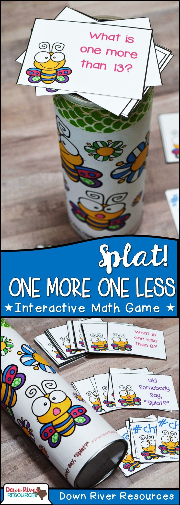 SPLAT! One More & One Less Interactive Math Center- Spring Edition ...