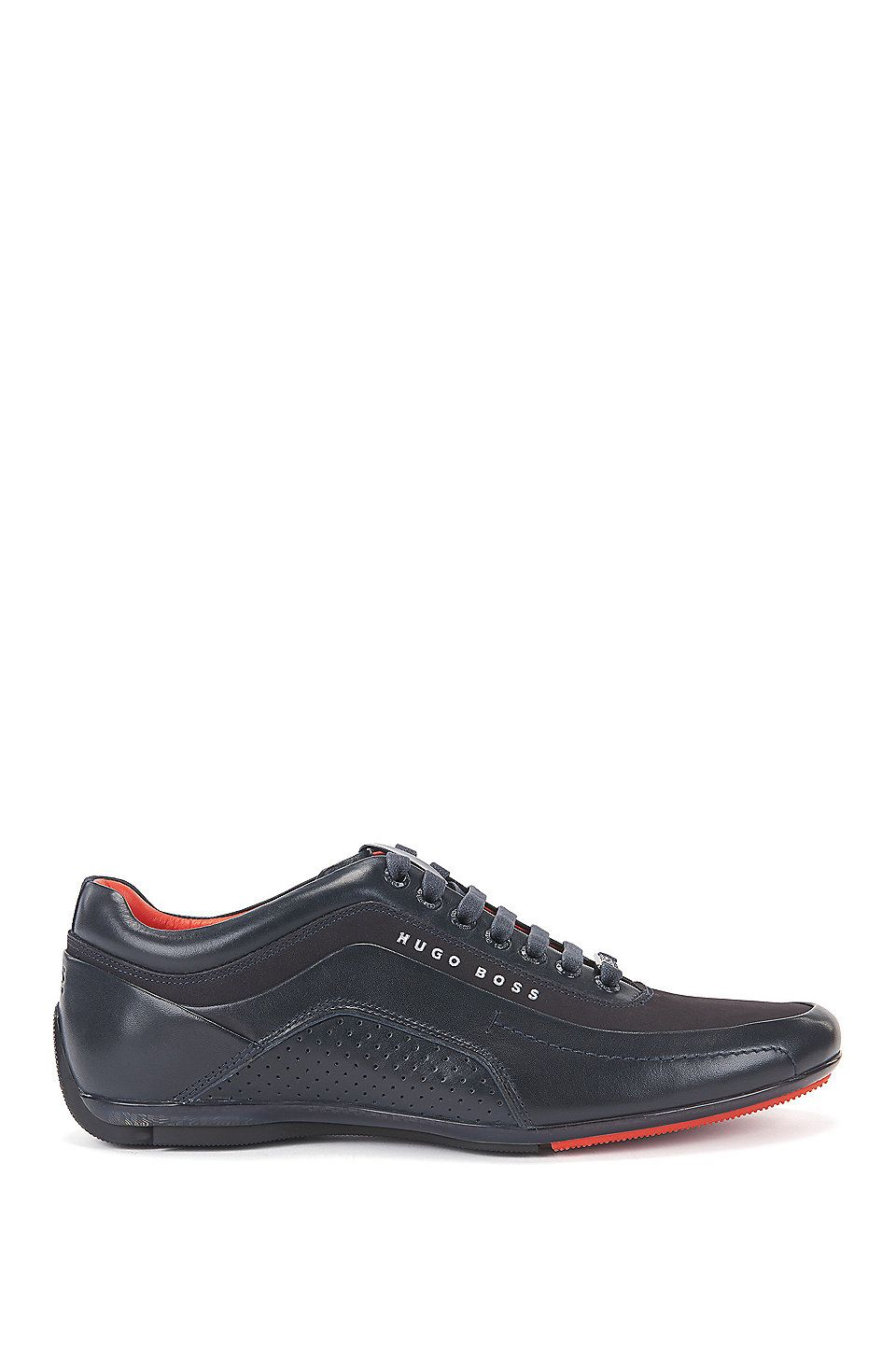 f1c47b1fe HUGO BOSS Trainers in leather and carbon fibre - Dark Blue Trainers ...