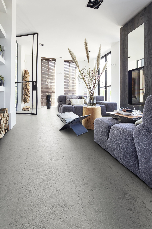 Pvc betonlook modern interieur pvc vloer pvc glasdeur