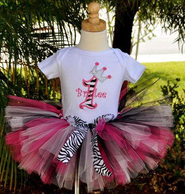 Girls Birthday Zebra Diva Princess Party Tutu Set Party Ideas