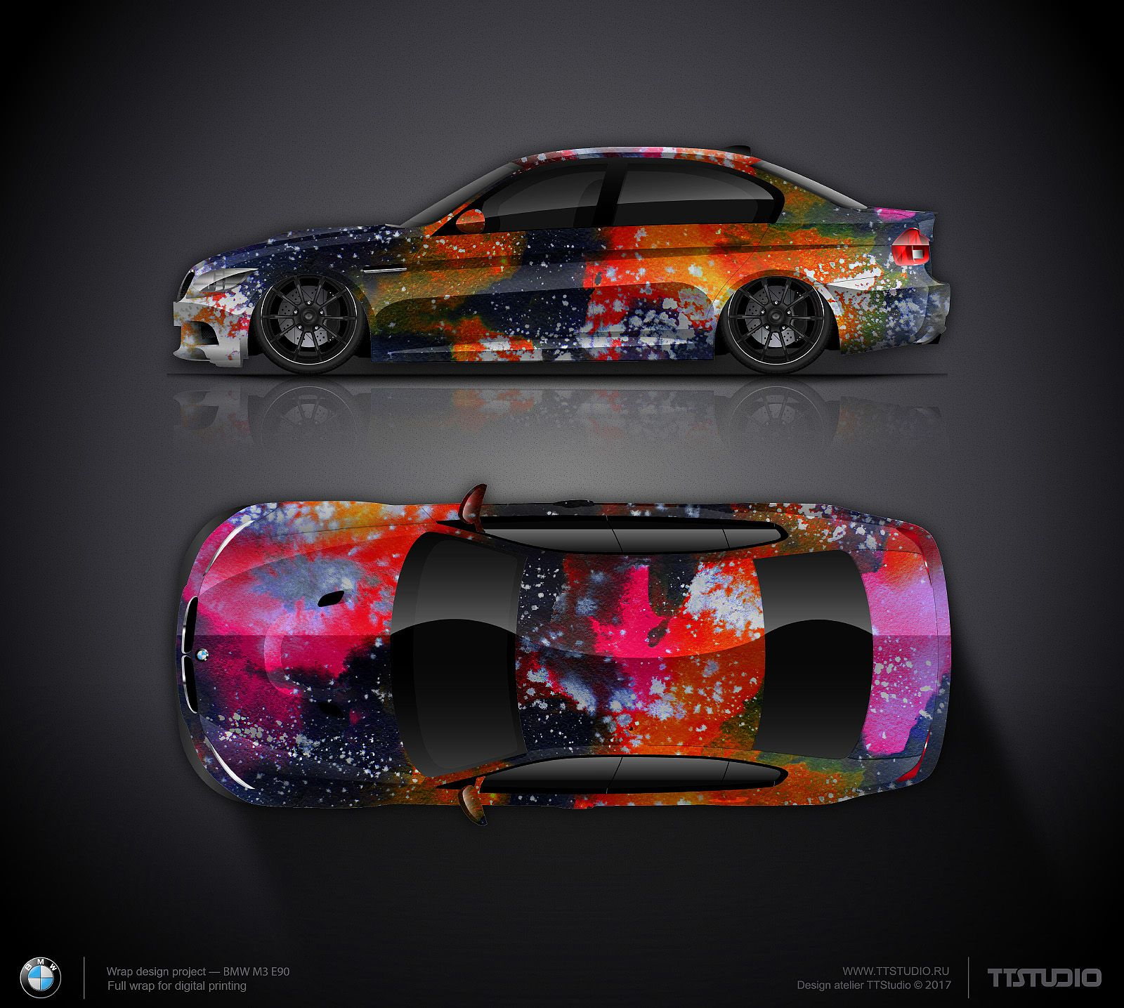 Art Wrap Design Concept 5 For Bmw M3 Car Wrap Design