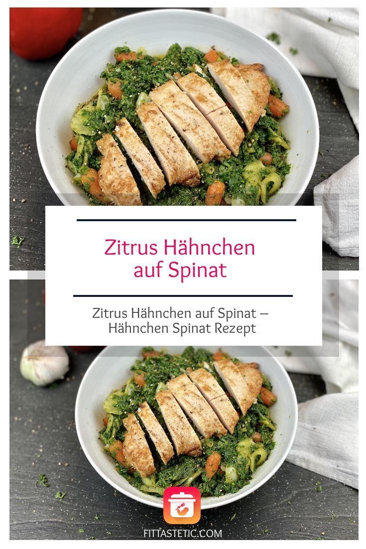 Ach ja so ein leckeres Zitrus Hähnchen auf Spinat ist schon echt was Feines. Generell finde ich Spin...