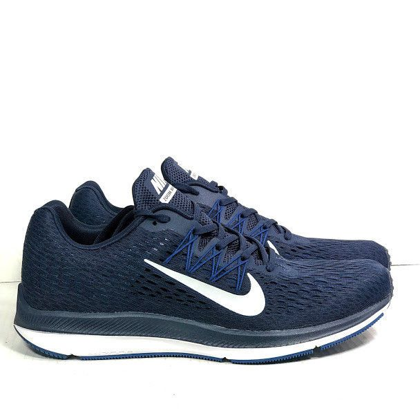 f128465482d1b NIKE Men s Zoom Winflo 5 Gym Blue White Obsidian Running Shoes Size 11.5 NEW
