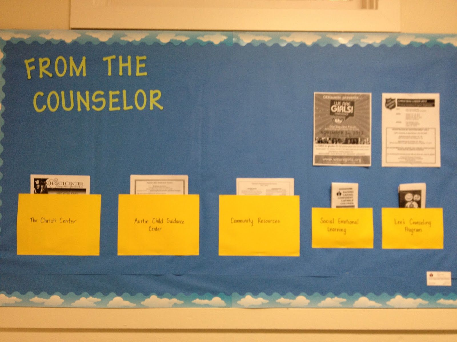 office bulletin board ideas yellow. what a counselor does bullinten board parent information bulletin office ideas yellow e