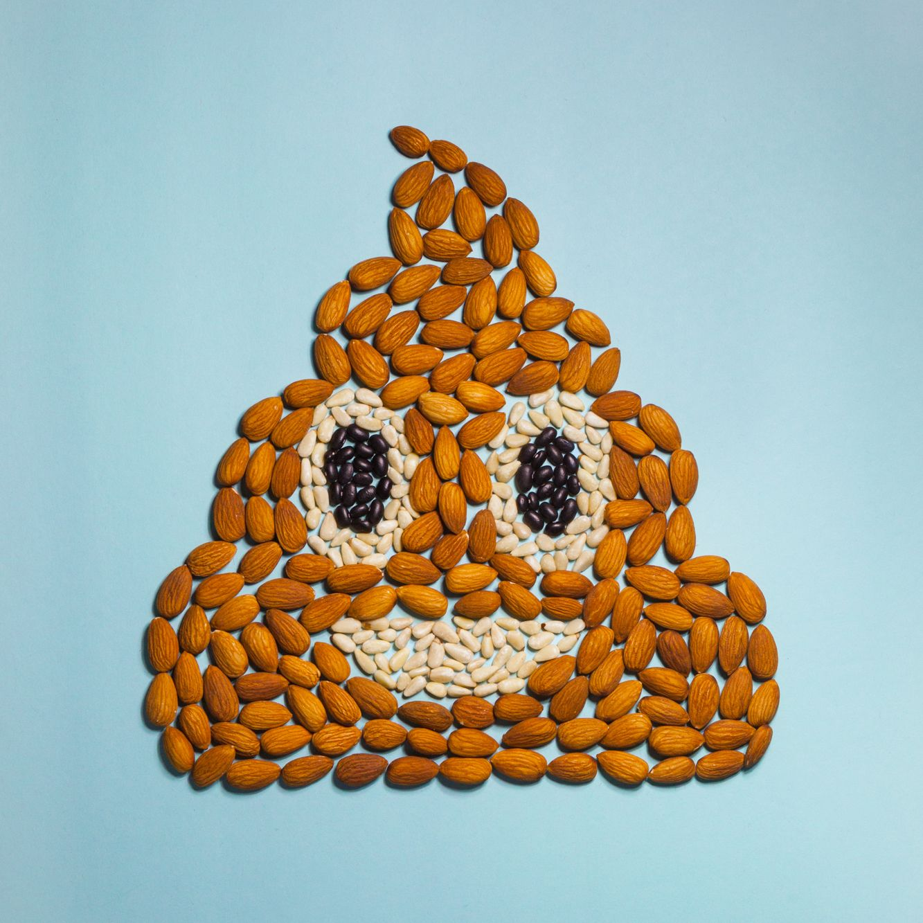 Nuts Beans The Magical Fruit The More You Eat The More You Made Entirely Of Almonds Pine Nuts And Black Beans And Lots Of Fi Emoji Food App Emoji Party