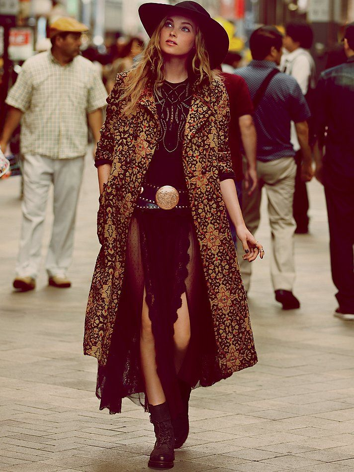 Free People Long Winded Tapestry Coat at Free People Clothing Boutique