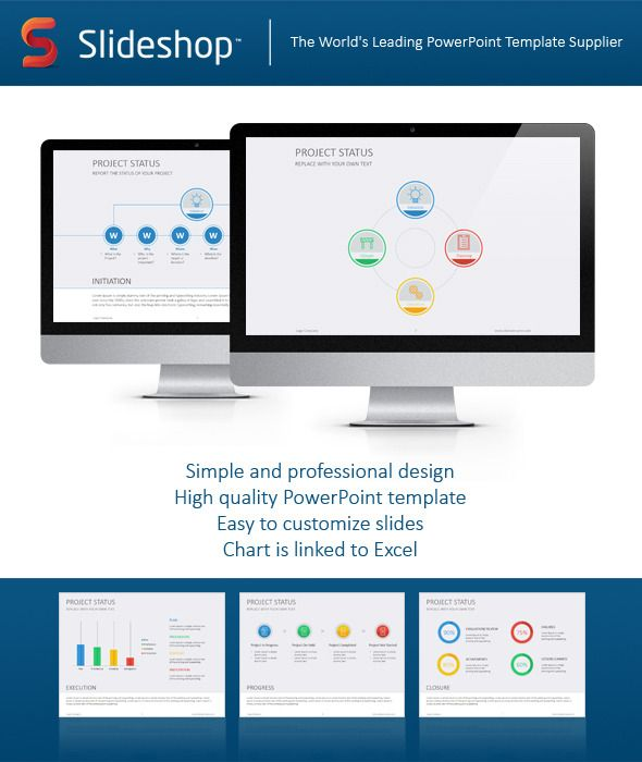Project Status Flat  Template Ppt Template And Presentation
