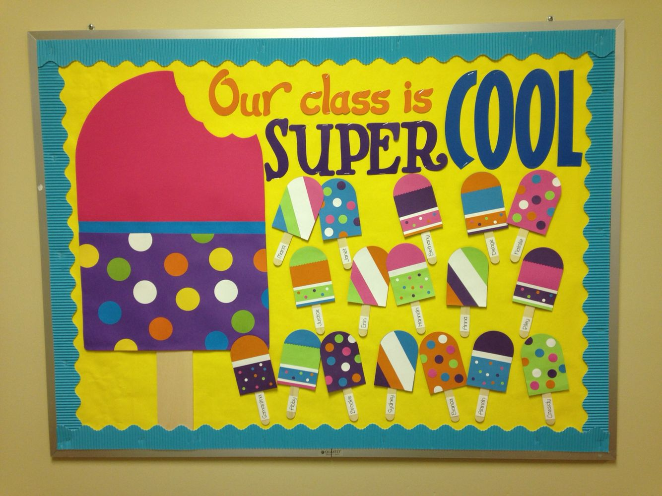 Popsicle Bulletin Board  Bulletin Boards  Summer bulletin boards Preschool bulletin Class
