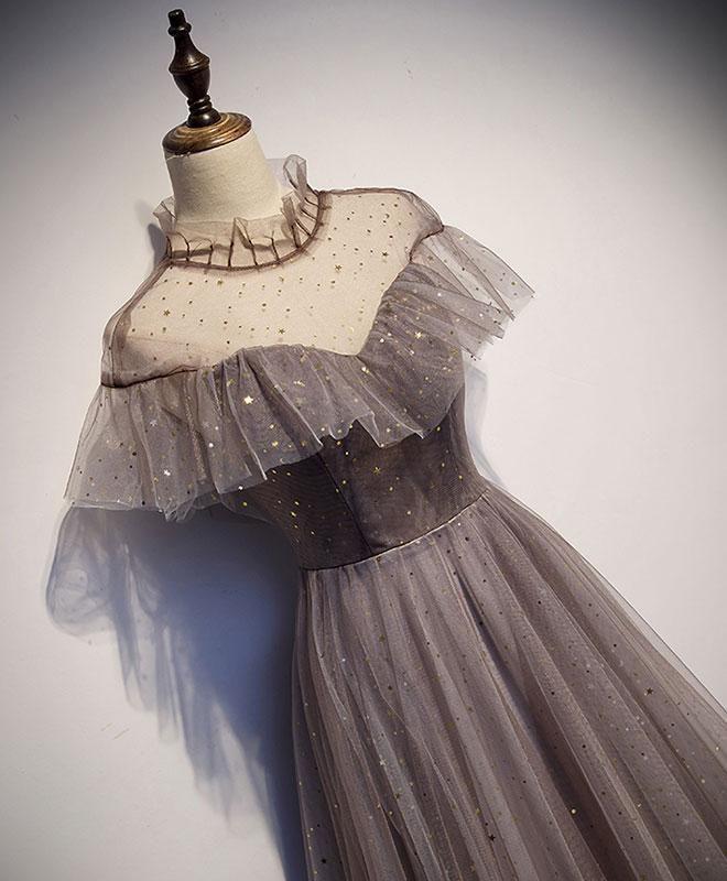 Einzigartiges langes Ballkleid aus Tüll, Abendkleid aus Tüll
