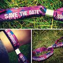 wedding festival save the date wristbands