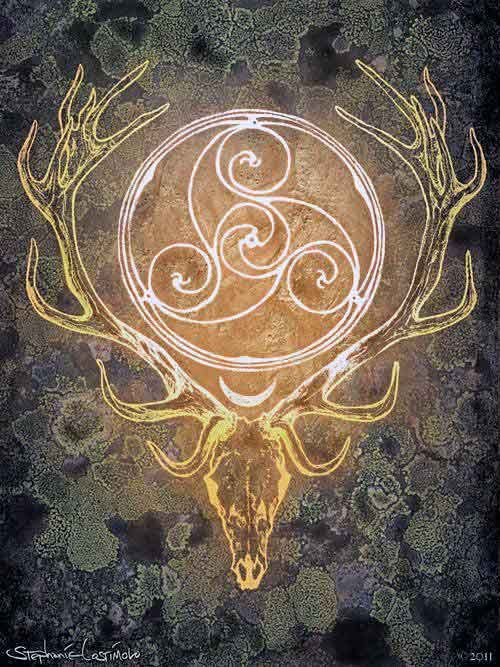 "Symbol of ""The Horned God,"" one of the two primary deities ..."