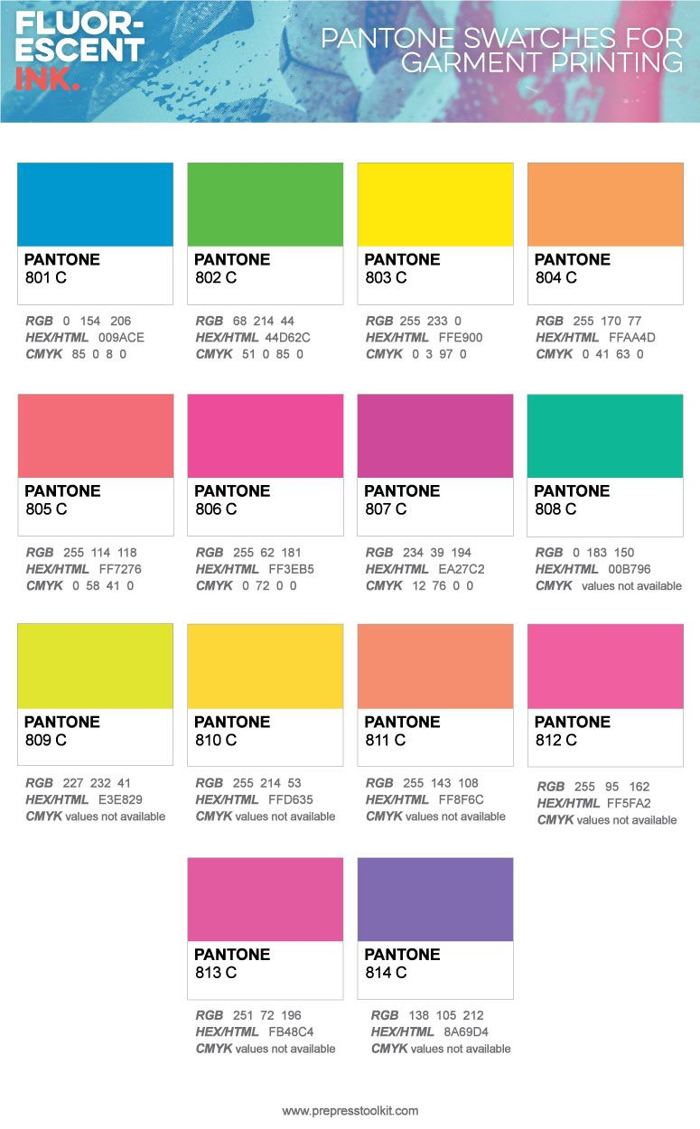 Fluorescent ink the definitive apparel designers guide also neon plastisol inks by wilflex compared to pantone solid coated rh pinterest