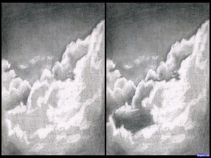 Awesome How To Draw Realistic Clouds In Pencil Cloud Drawing Realistic Drawings Clouds