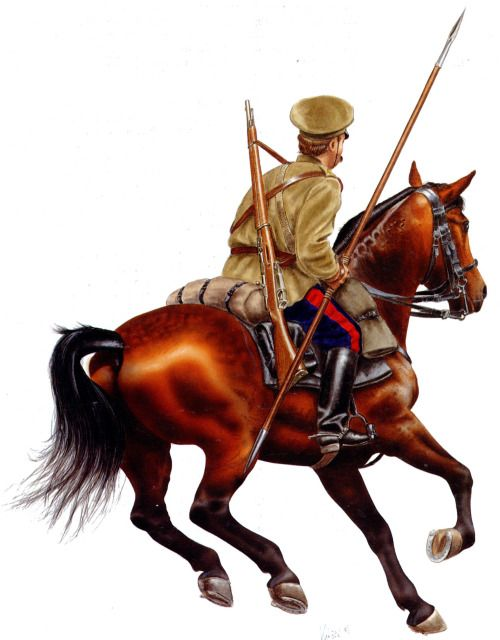 Russian cavalryman, 1914.