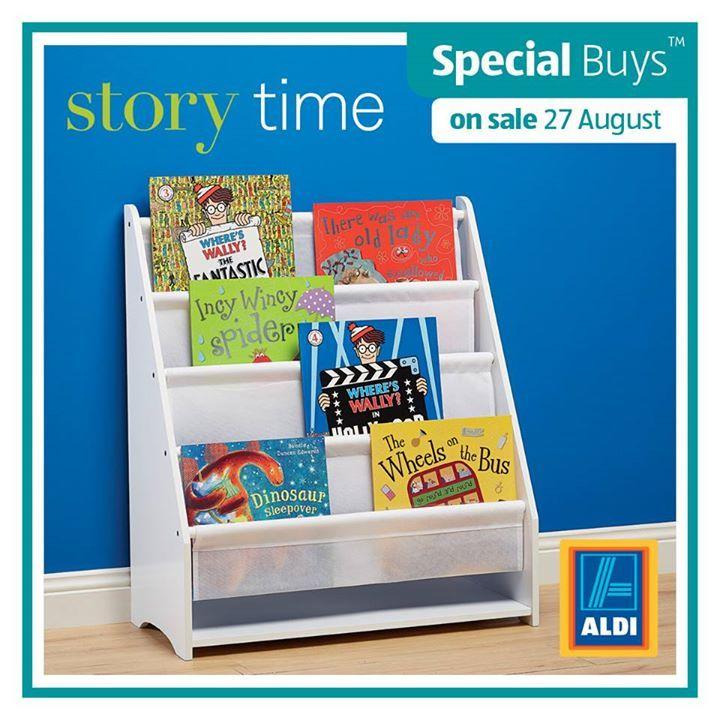 aldi childrens book shelves