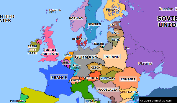 image result for map of germany and surrounding countries 1933