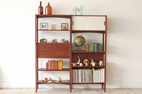 Mid Century Modern Wall Unit Bookshelf By Othertimesvintage