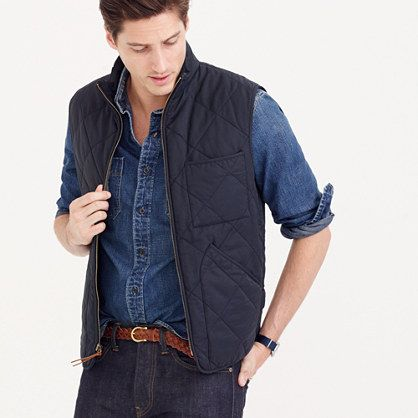 J.Crew - Sussex quilted vest, navy, men's, $138 | Dress to Impress ... : quilted vests for men - Adamdwight.com