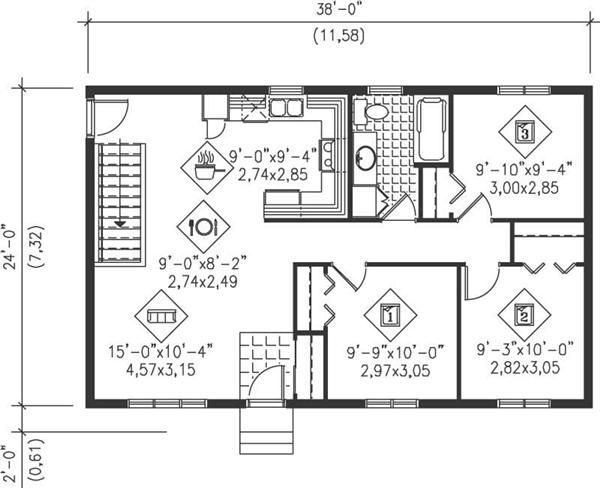 Ranch Level One Of Plan 49497 Nice Ideas