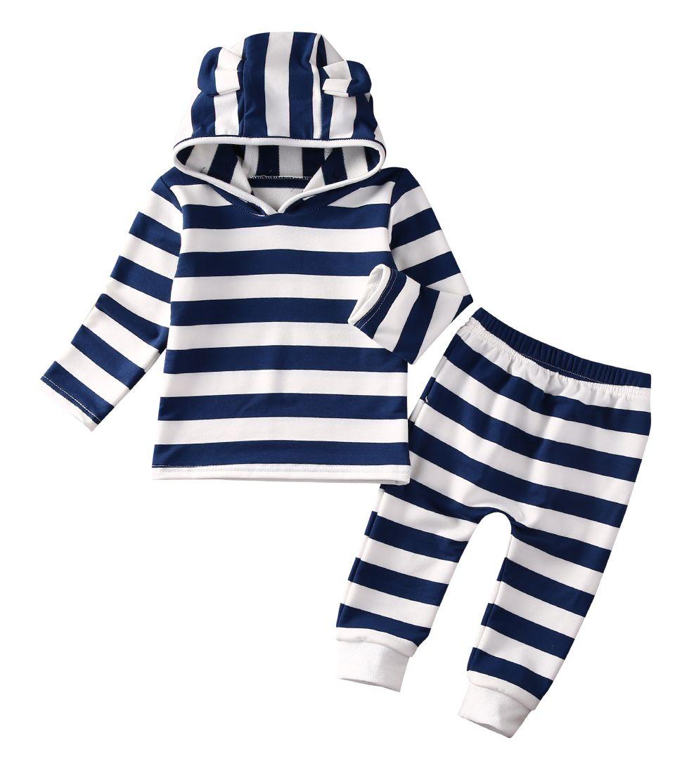 2PCS Newborn Baby Girls Cotton Long Sleeve Tops Sweatshirt Pants Outfits Autumn