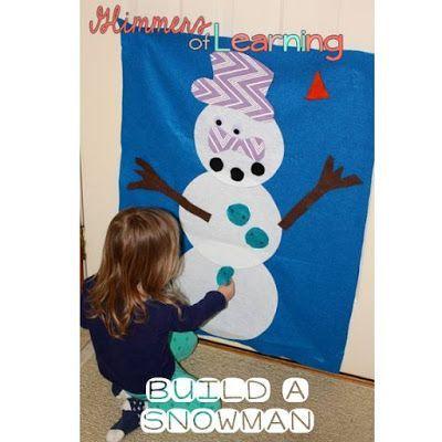 Snowmen activities for preschoolers/tot school!
