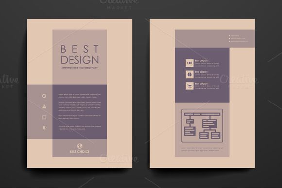 Simple Brochures Brochures Vector File And Adobe