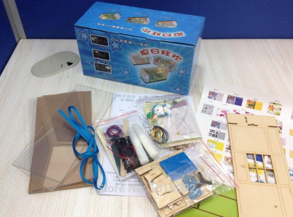Kawaii Creative Diy Wooden Doll House Kids Toy Doraemon Nobita S Diy Doraemon House Paper Craft Diy Paper Crafts Wooden Diy Wooden Dollhouse Wooden Dolls