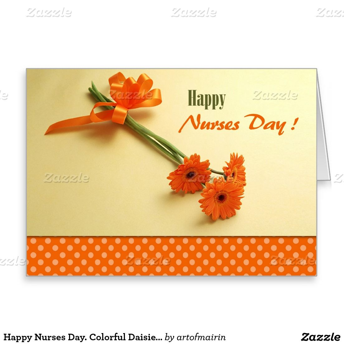 Happy nurses day colorful daisies greeting cards m4hsunfo