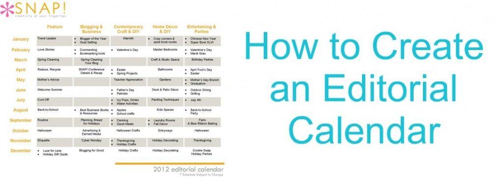 Create a blog editorial calendar. Blogging Tip.