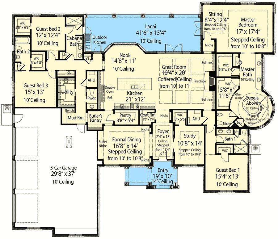 Plan 33146zr Beauty Plus Energy Efficiency House Plans Dream House Plans Smart House Plans