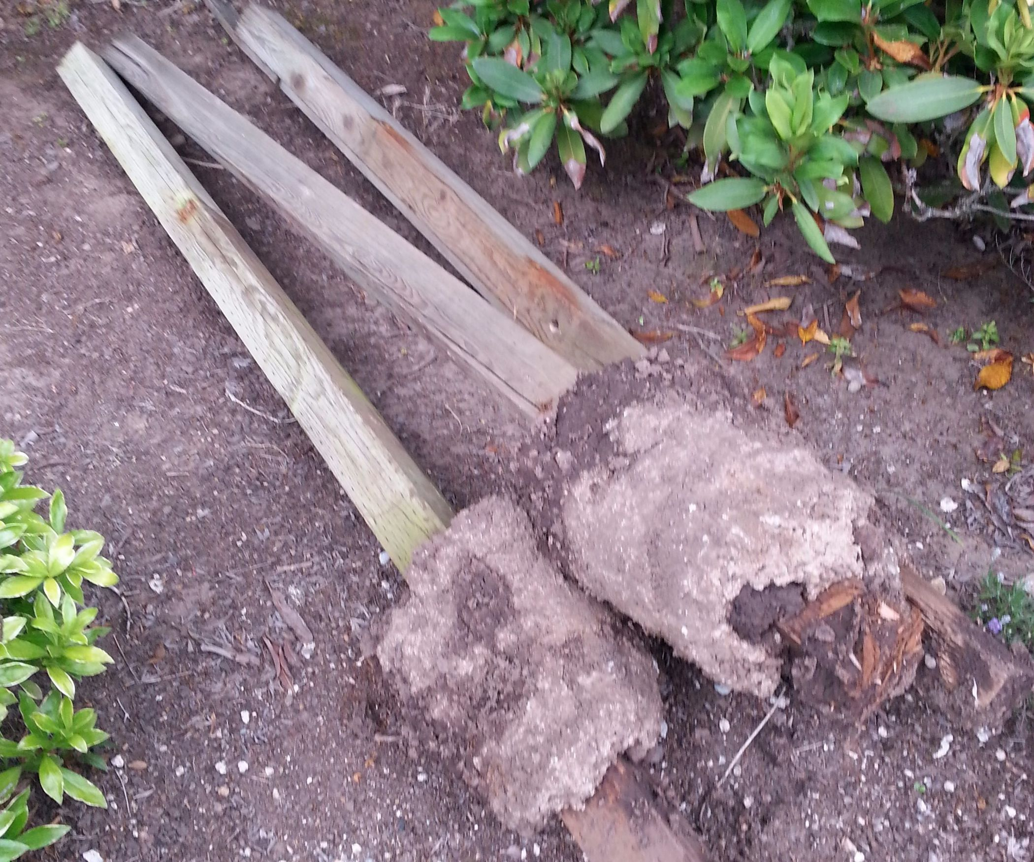 Pull Wooden Fence Posts Set in Concrete WITH NO DIGGING