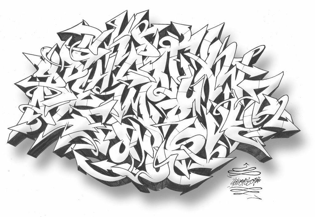2009 Sketches Ball Arrow Graffiti Alphabet Font A Z By Gar Ca P2m