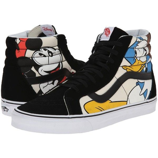 992b7bf49f Vans Disney SK8-Hi Reissue Mickey   Friends Black) Skate Shoes ( 75) ❤  liked on Polyvore featuring shoes
