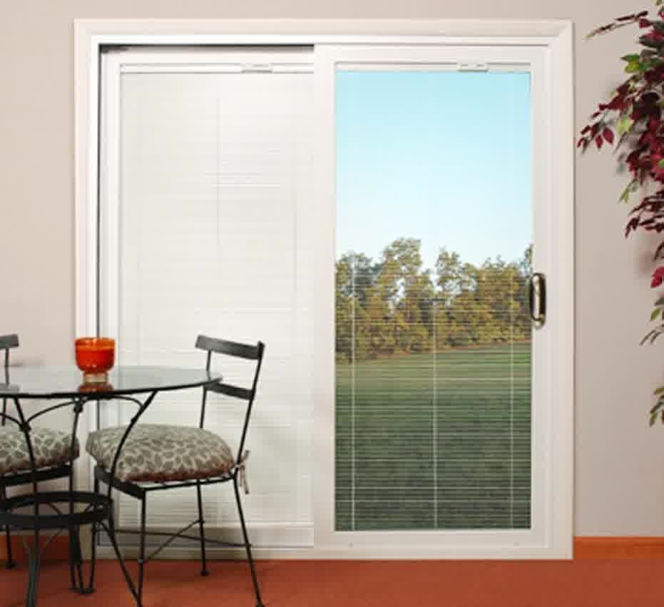 Sliding glass doors with internal blinds togethersandia